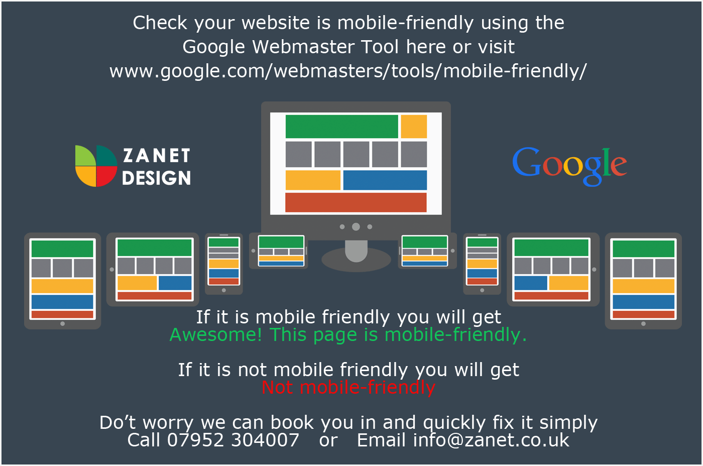 Mobile friendly fix for Google web sites
